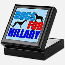 Dogs for Hillary Keepsake Box