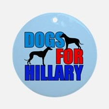Dogs for Hillary Ornament (Round)