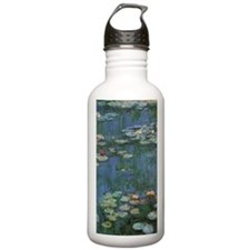 Waterlilies by Claude Water Bottle