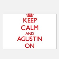 Keep Calm and Agustin ON Postcards (Package of 8)