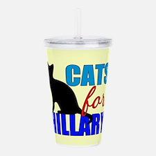 Cats for Hillary Acrylic Double-wall Tumbler