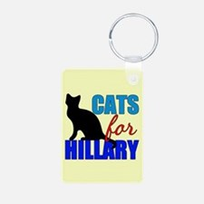 Cats for Hillary Keychains