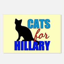 Cats for Hillary Postcards (Package of 8)