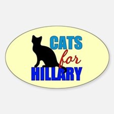 Cats for Hillary Decal