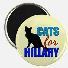 Cats for Hillary Magnet