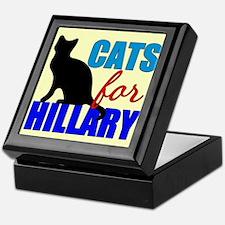 Cats for Hillary Keepsake Box