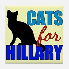Cats for Hillary Tile Coaster
