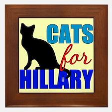 Cats for Hillary Framed Tile
