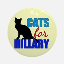 Cats for Hillary Ornament (Round)