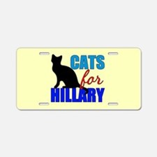 Cats for Hillary Aluminum License Plate
