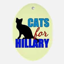 Cats for Hillary Ornament (Oval)