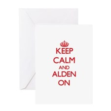 Keep Calm and Alden ON Greeting Cards