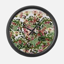 Honeysuckle Flowers Floral Garden Large Wall Clock