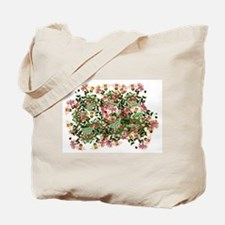 Honeysuckle Flowers Floral Garden Tote Bag