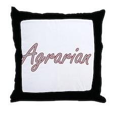 Agrarian Artistic Job Design Throw Pillow