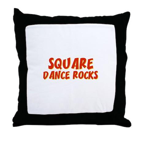 Square Dance Rocks Throw Pillow