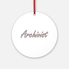 Archivist Artistic Job Design Ornament (Round)