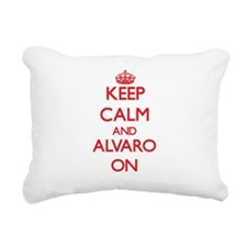 Keep Calm and Alvaro ON Rectangular Canvas Pillow