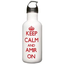 Keep Calm and Amir ON Water Bottle