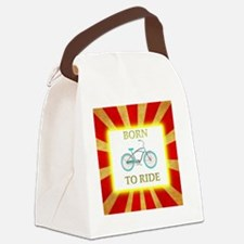 Born to Ride Circus Bike Canvas Lunch Bag
