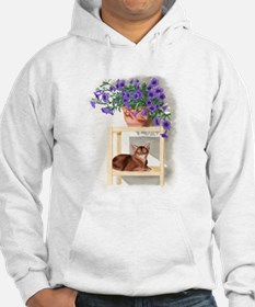 Abyssinian Cat With Flowers Hoodie