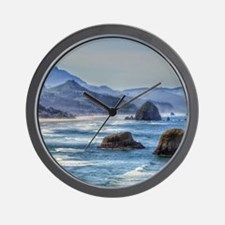 Rockaway Beach on the Oregon Coast Wall Clock