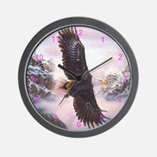 Eagles In Mist Wall Clock