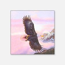 """Eagles in Mist Square Sticker 3"""" x 3"""""""
