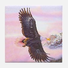 Eagles in Mist Tile Coaster