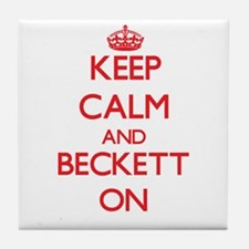Keep Calm and Beckett ON Tile Coaster