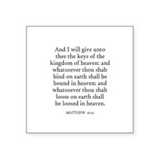 "Cute Christian verses Square Sticker 3"" x 3"""