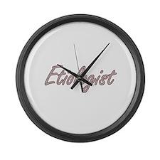 Etiologist Artistic Job Design Large Wall Clock