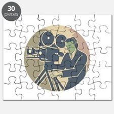 Cameraman Moviemaker Vintage Camera Retro Puzzle