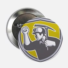 Coal Miner Clenched Fist Pick Axe Shield Retro 2.2