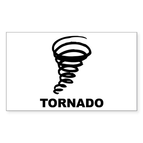 Tornado Rectangle Sticker