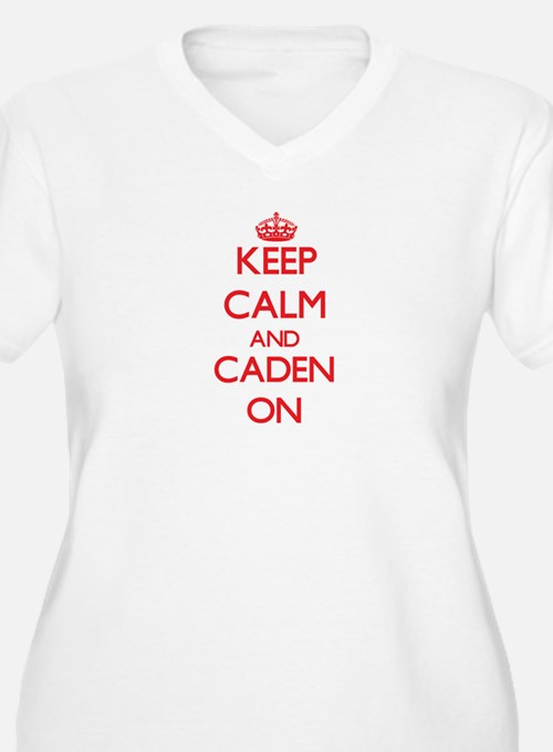 Keep Calm and Caden ON Plus Size T-Shirt