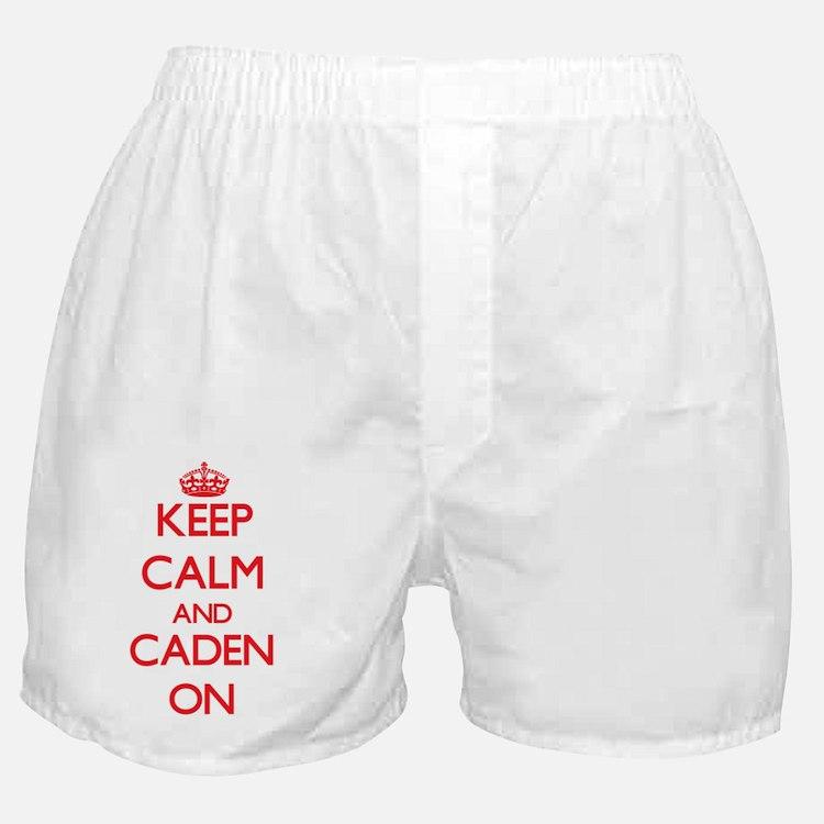Keep Calm and Caden ON Boxer Shorts