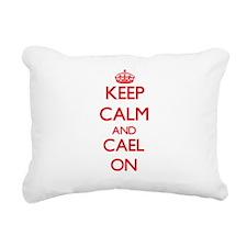 Keep Calm and Cael ON Rectangular Canvas Pillow