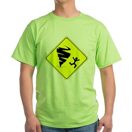 Warning Tornado Green T-Shirt