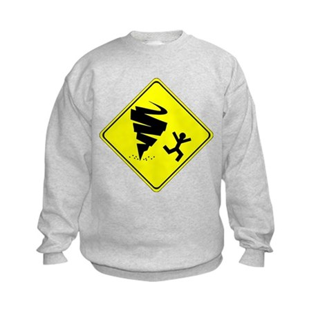 Warning Tornado Kids Sweatshirt