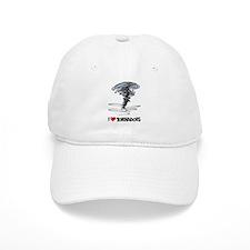 I Love Tornado Baseball Cap