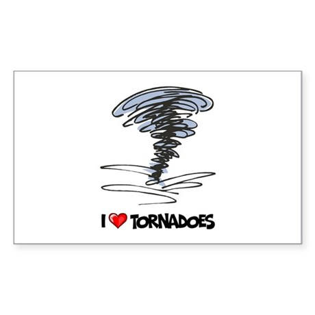 I Love Tornado Rectangle Sticker