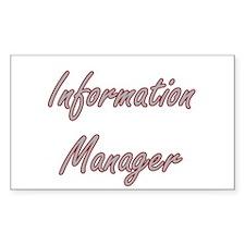 Information Manager Artistic Job Design Decal