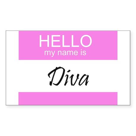 Diva Rectangle Sticker