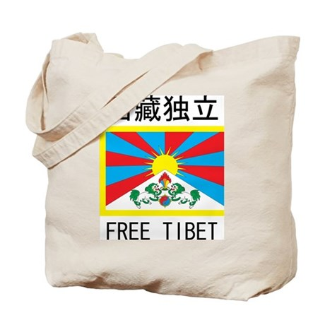 Free Tibet In Chinese Tote Bag