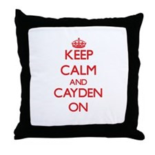 Keep Calm and Cayden ON Throw Pillow