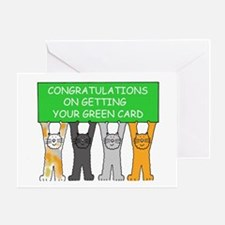 Congratulations on getting green car Greeting Card