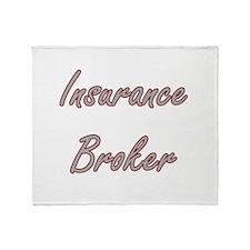 Insurance Broker Artistic Job Design Throw Blanket