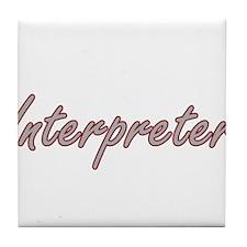 Interpreter Artistic Job Design Tile Coaster