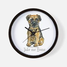 Border Terrier Home Wall Clock